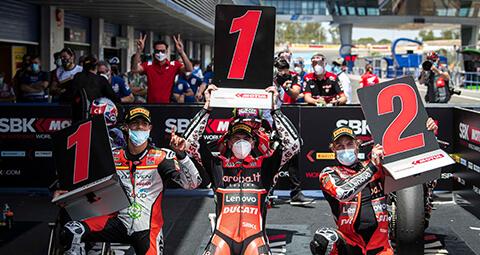 Aruba.it Racing – Ducati 團隊拿到精彩的勝利!<br>Scott Redding和Chaz Davis在上週星期日的Race 2一起登上頒獎台!