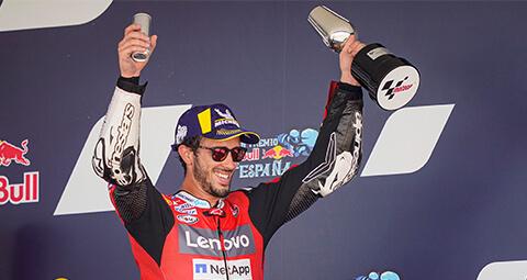 Andrea Dovizioso在西班牙赫雷斯站以第三名登上頒獎台。<br>而Danilo Petrucci以排名前十的第九名完成比賽。